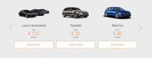 Цены на аренду авто разных классов